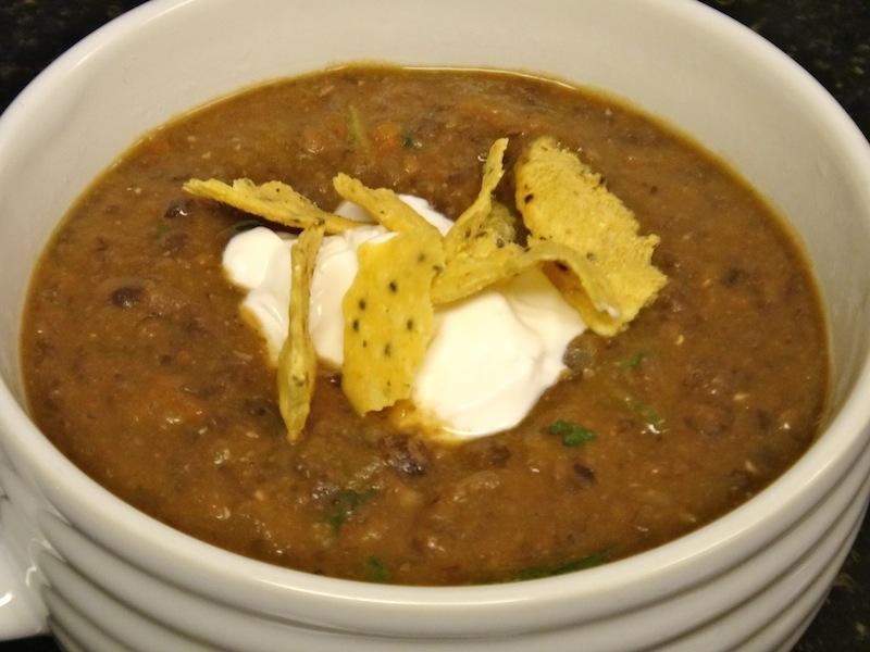 The Best Black Bean Soup | Plantiful Eats